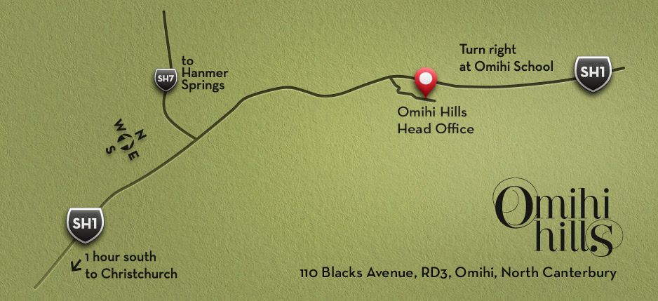 Our location - Omihi Hills